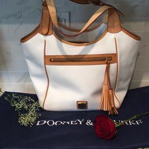 Dooney leather shoulder bag